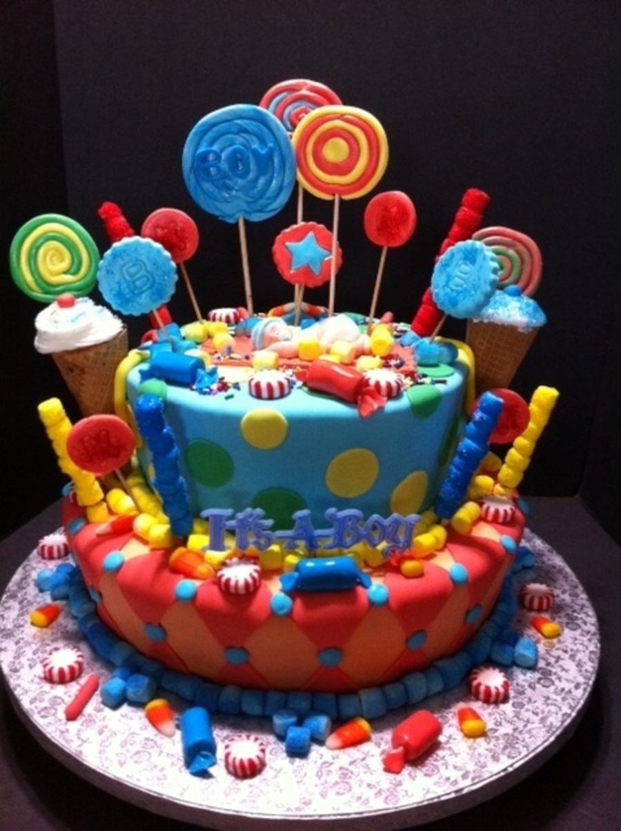 candy land baby shower cake