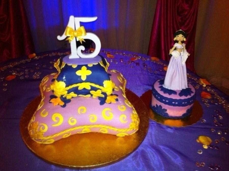Sweet 15 arabian theme cake for Arabian cake decoration