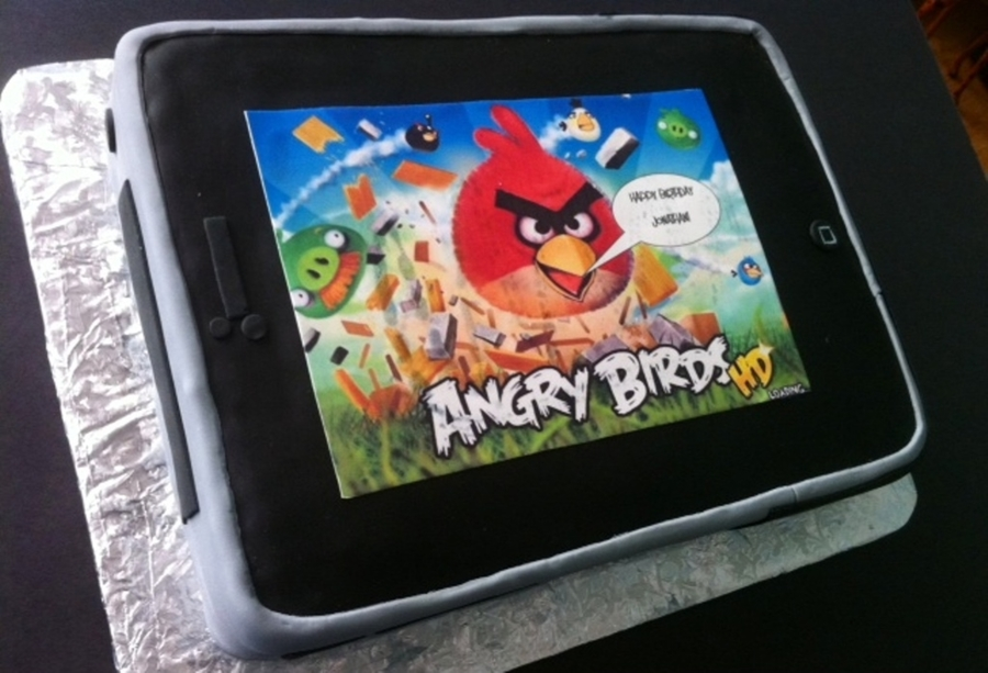 Angry Birds Game In Iphone on Cake Central