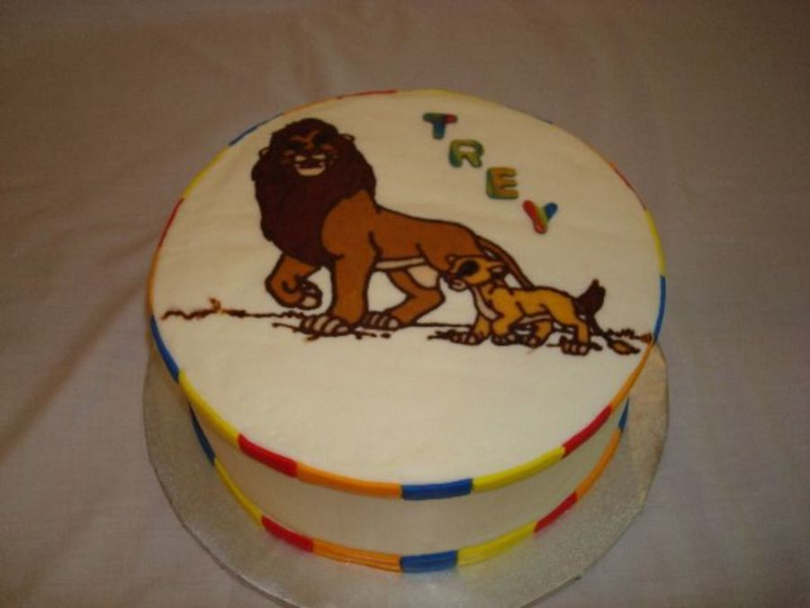 Trey's Lion King  on Cake Central