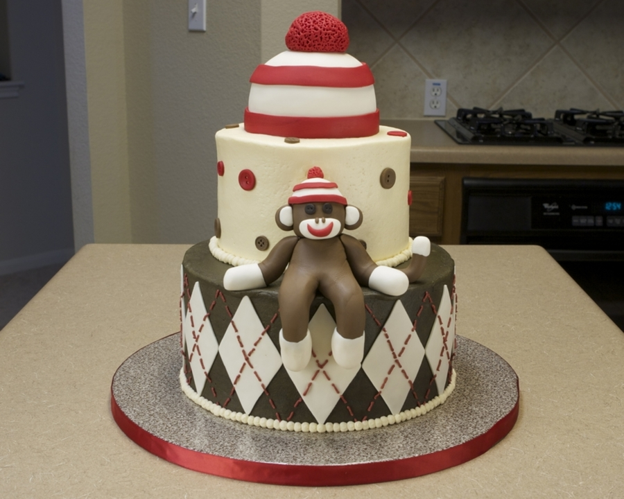 Marvelous Sock Monkey Birthday Cake Cakecentral Com Funny Birthday Cards Online Alyptdamsfinfo