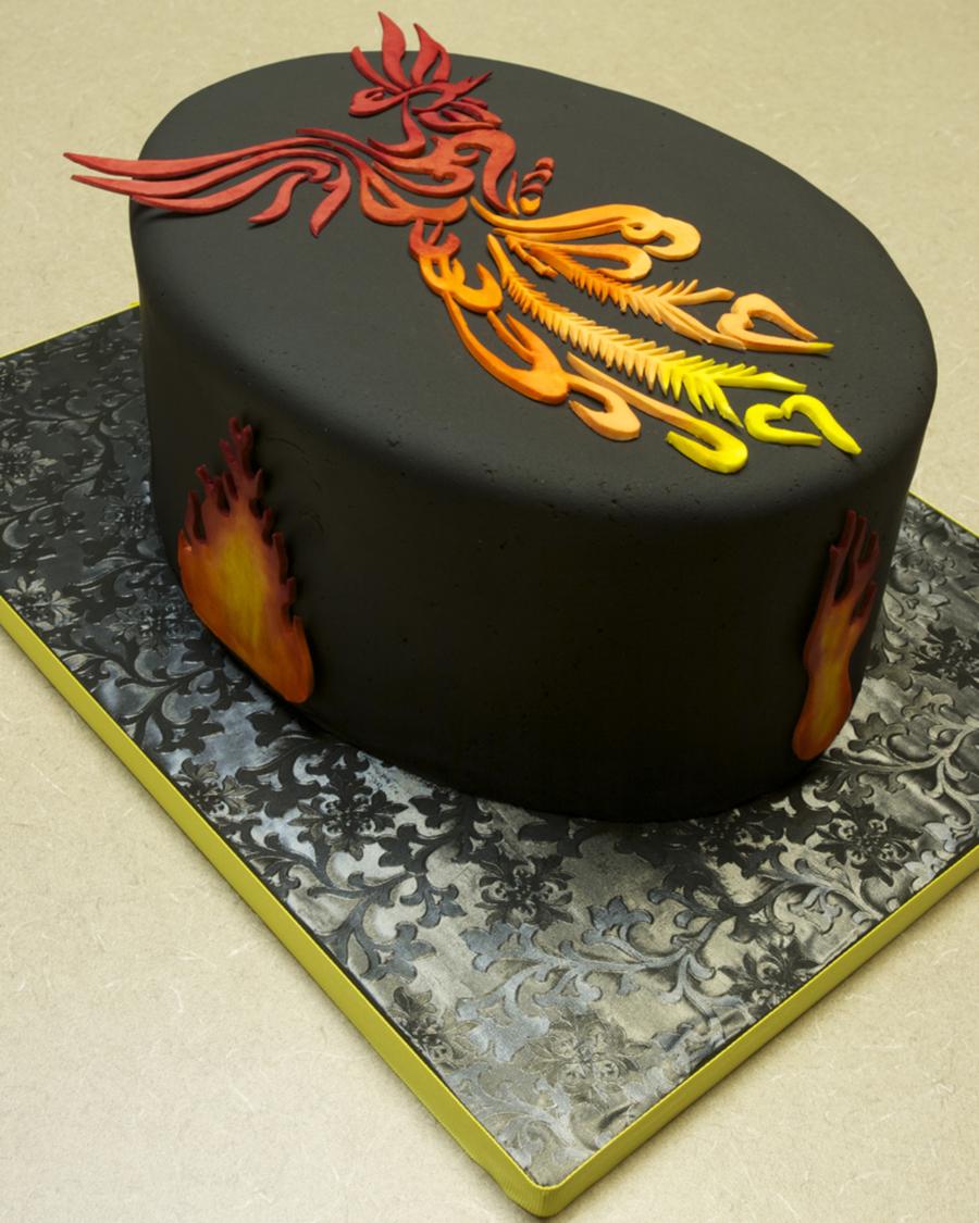 Cakecentral Com: Phoenix Birthday Cake