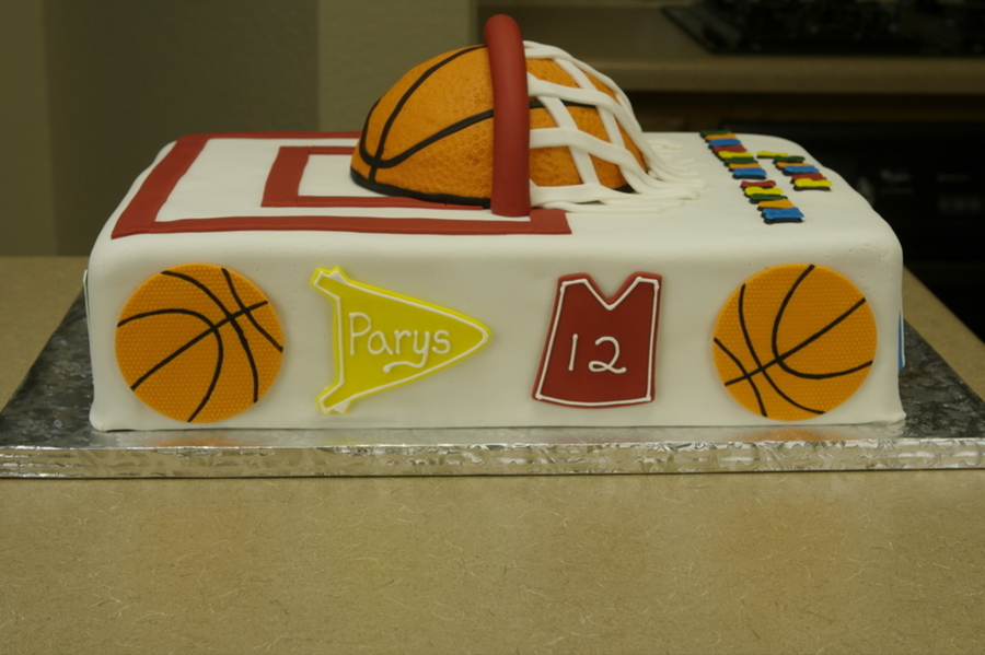 Basketball Birthday Cake CakeCentralcom