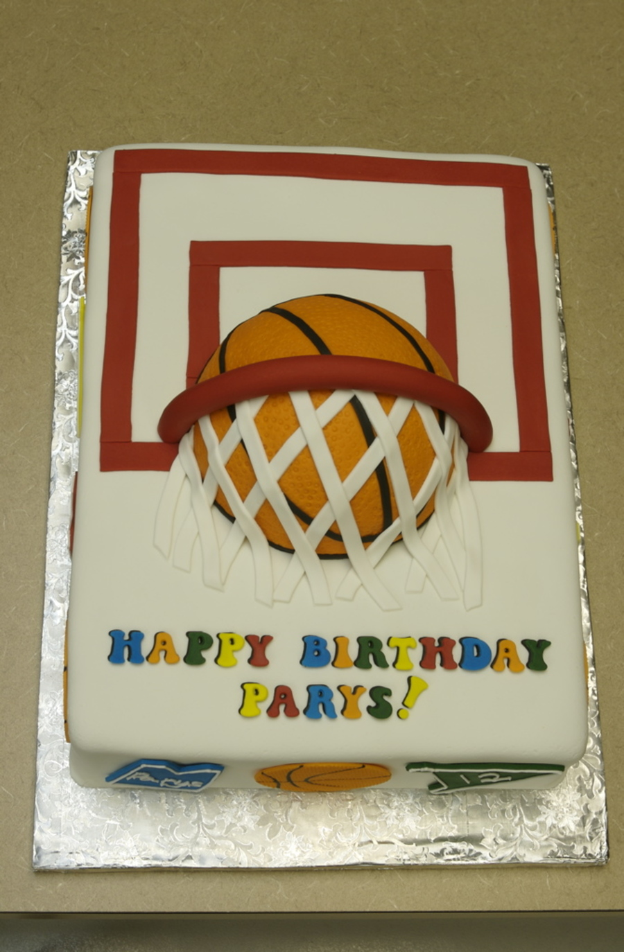 Pleasing Basketball Birthday Cake Cakecentral Com Funny Birthday Cards Online Unhofree Goldxyz