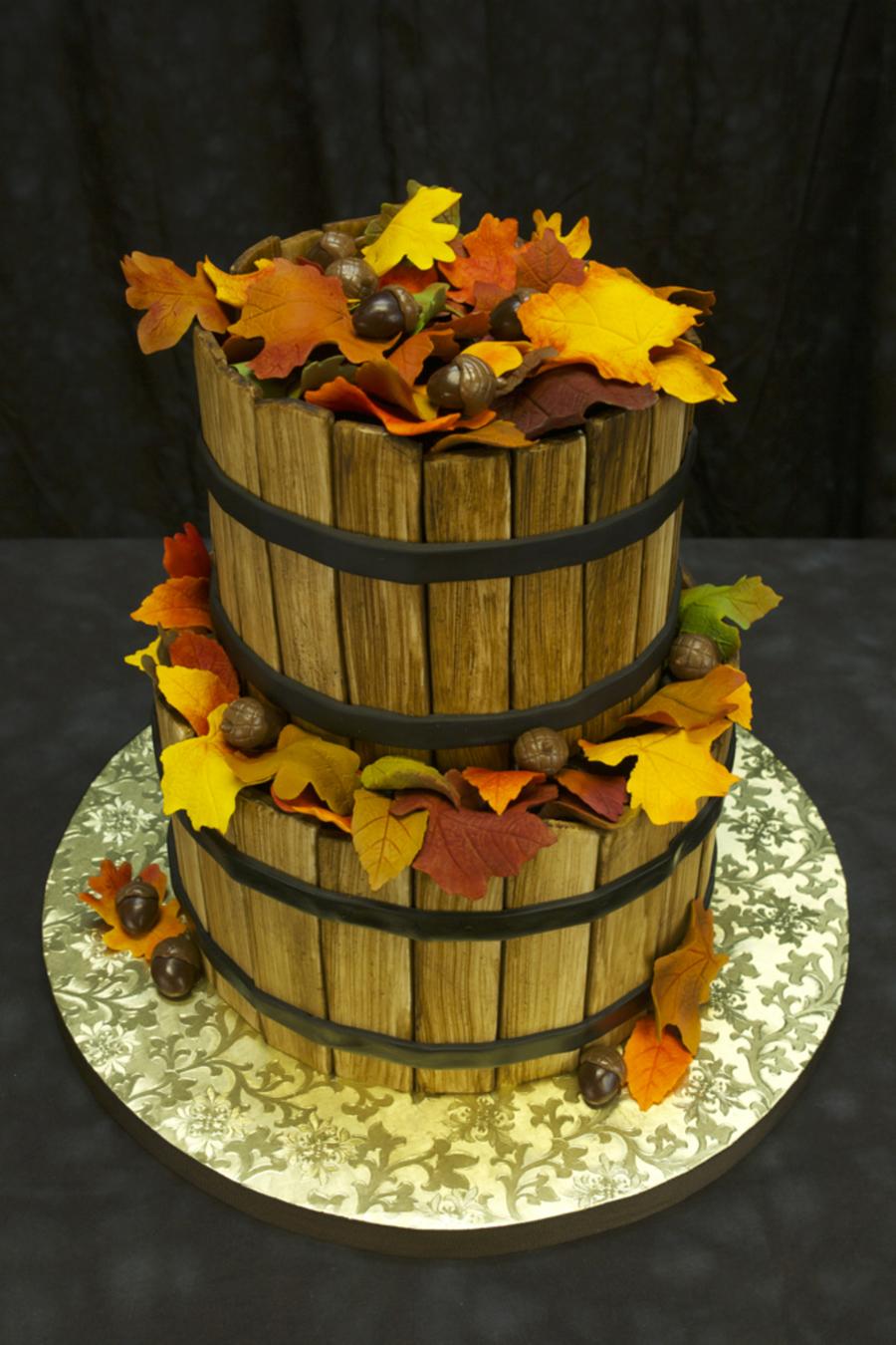 Autumn Basket Cake Cakecentral Com