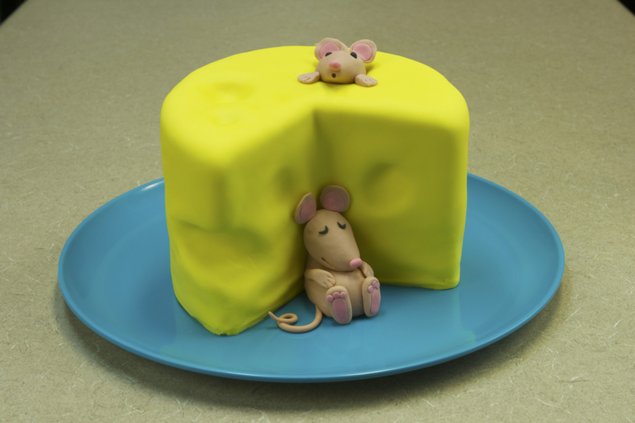 Block Of Cheese With Mice Cakecentral Com