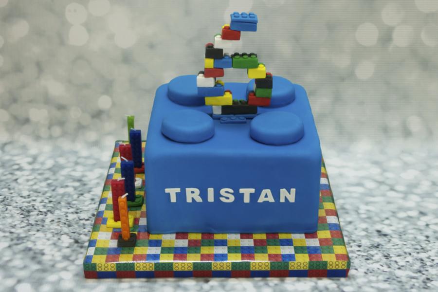 Building Block Birthday Cake On Central