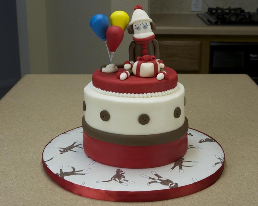Pleasing Sock Monkey Birthday Cake Cakecentral Com Birthday Cards Printable Giouspongecafe Filternl