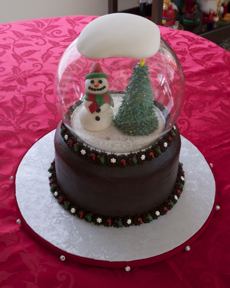 Snow Globe Cake Cakecentral Com