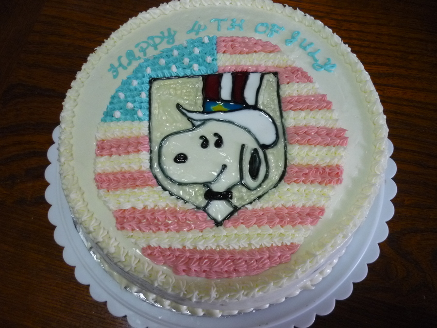 Snoopy 4Th Of July Cake on Cake Central