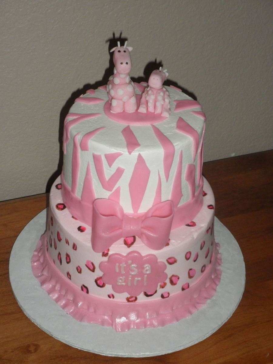 Pink Safari Baby Shower on Cake Central