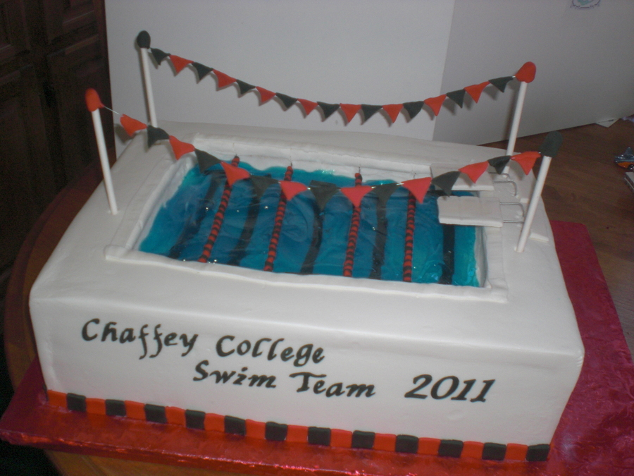 Swim Team Cake on Cake Central