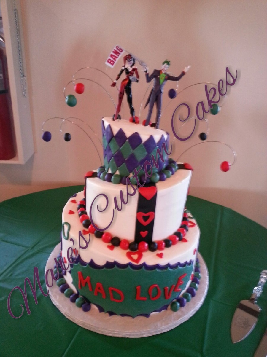 Joker And Harley Wedding Cakes