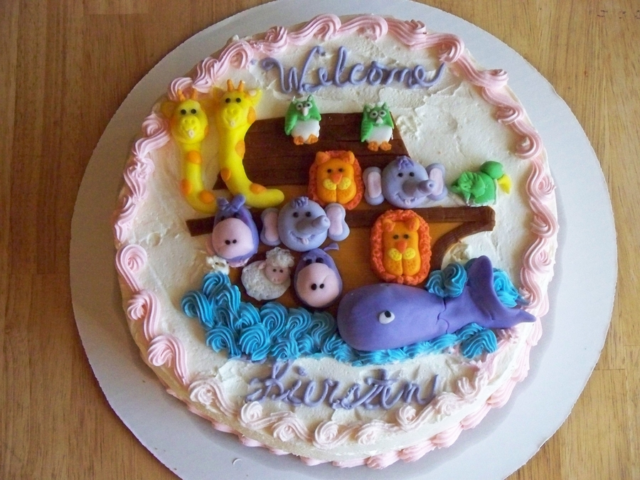Noah's Ark Welcome  on Cake Central