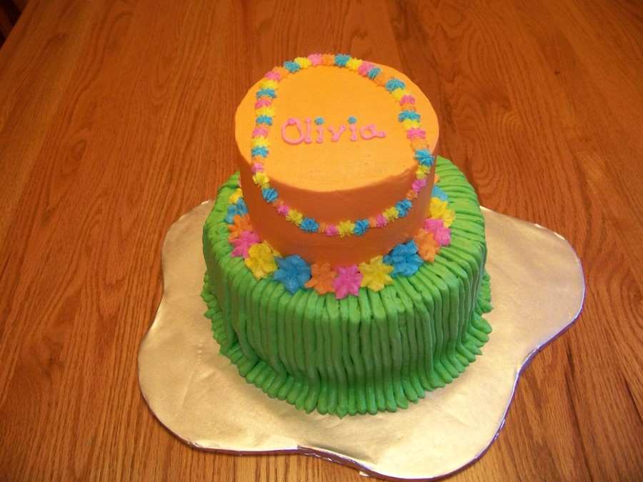 Astounding Luau Birthday Cake Cakecentral Com Funny Birthday Cards Online Overcheapnameinfo