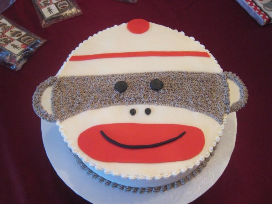 Sock Monkey Birthday on Cake Central