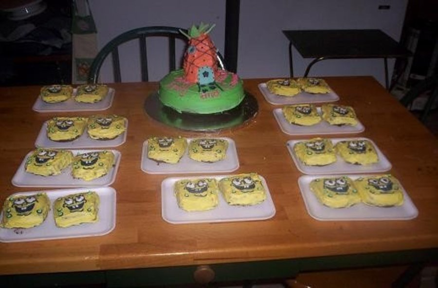 Cake And Mini Spongebob Faces on Cake Central