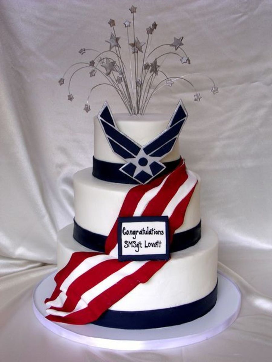 Air Force Retirement Cake - CakeCentral com