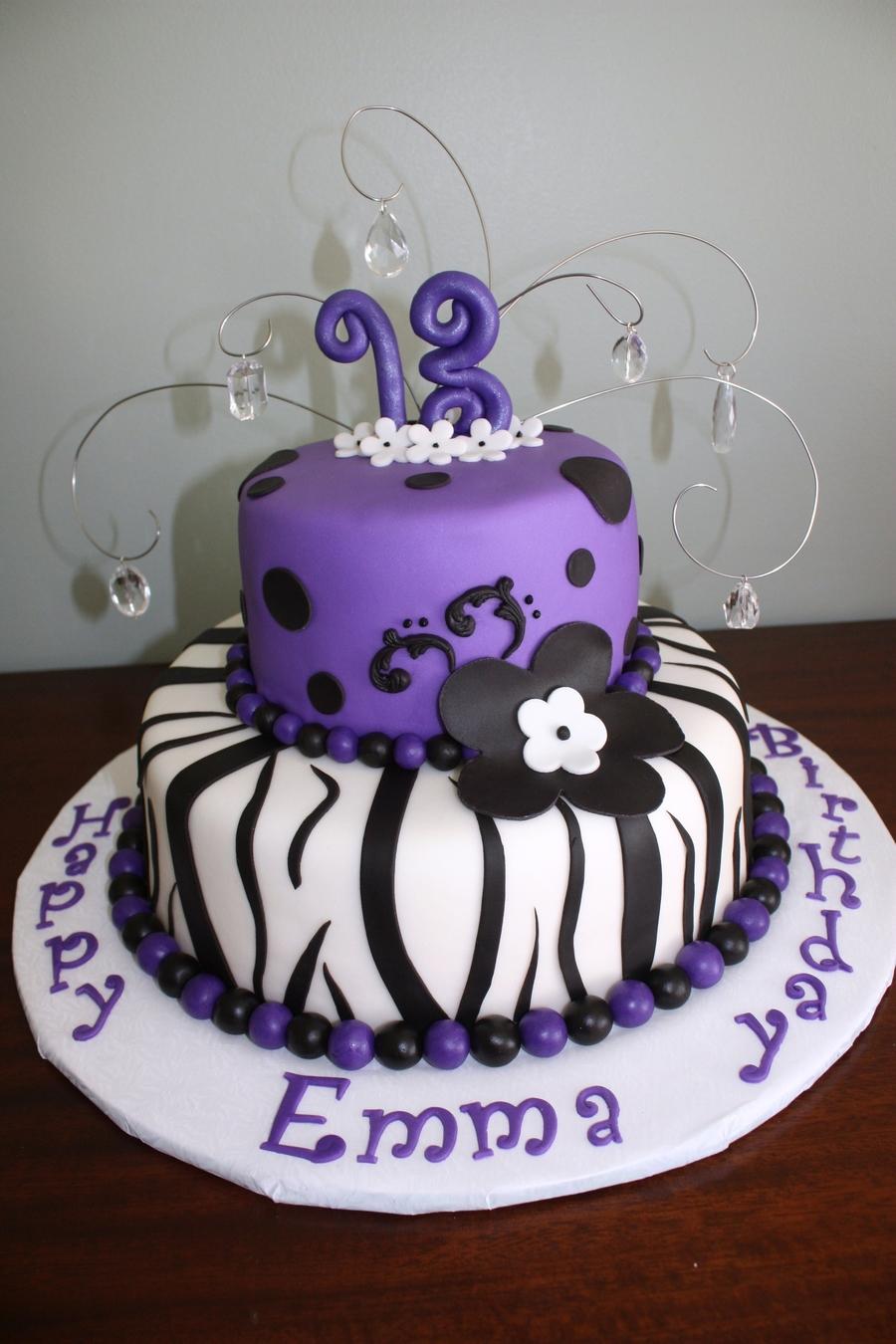Striped Th Birthday Cakes