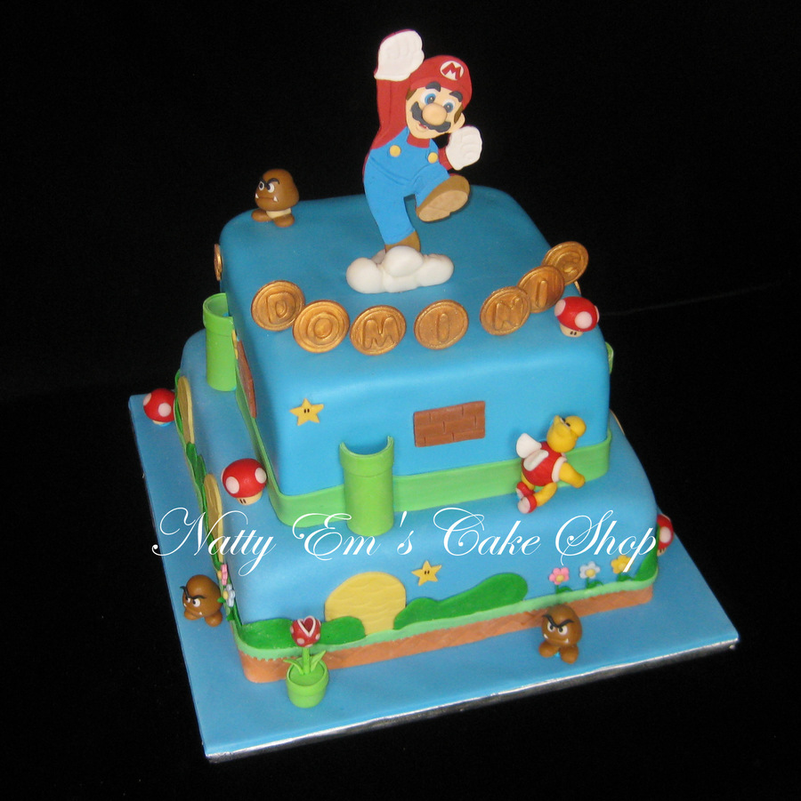 Birthday Cake For 6 Year Old Boy Mario Is Gumpaste And Other Figures Are Combination Gum