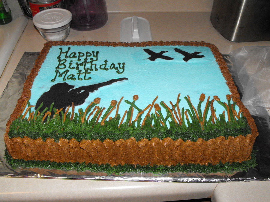 Hunting Birthday Cake Designs