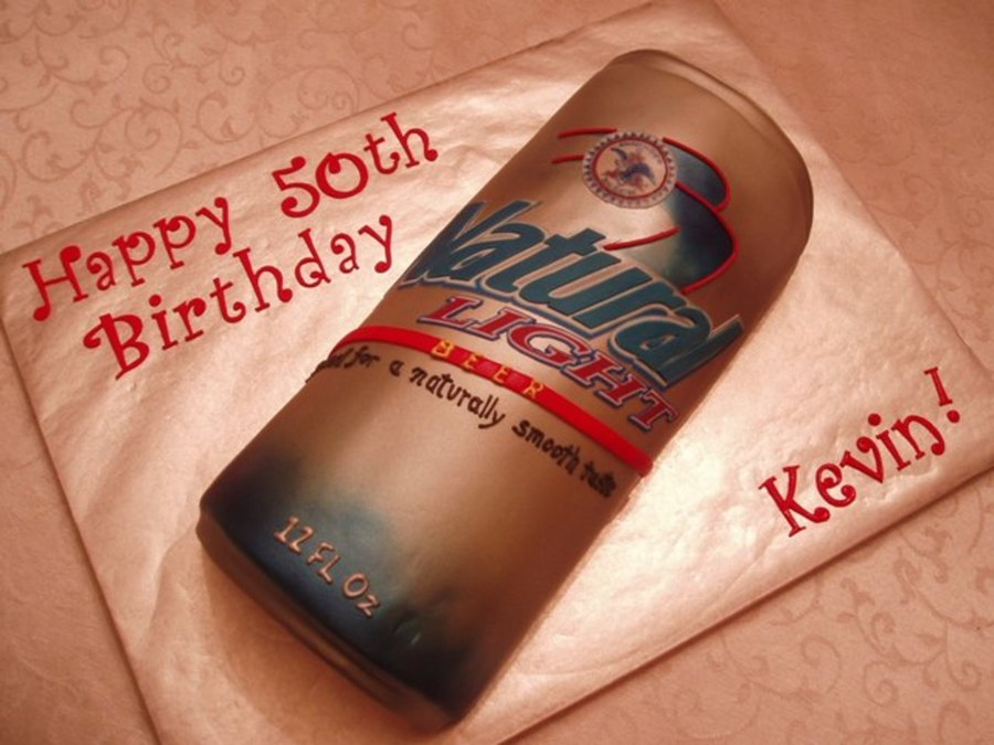 Beer Can Cake on Cake Central