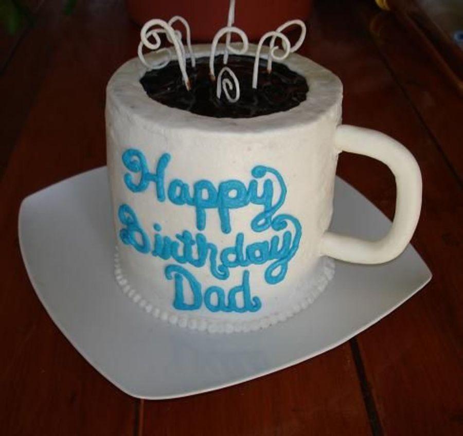 Admirable Coffee Cup Birthday Cake Cakecentral Com Funny Birthday Cards Online Kookostrdamsfinfo