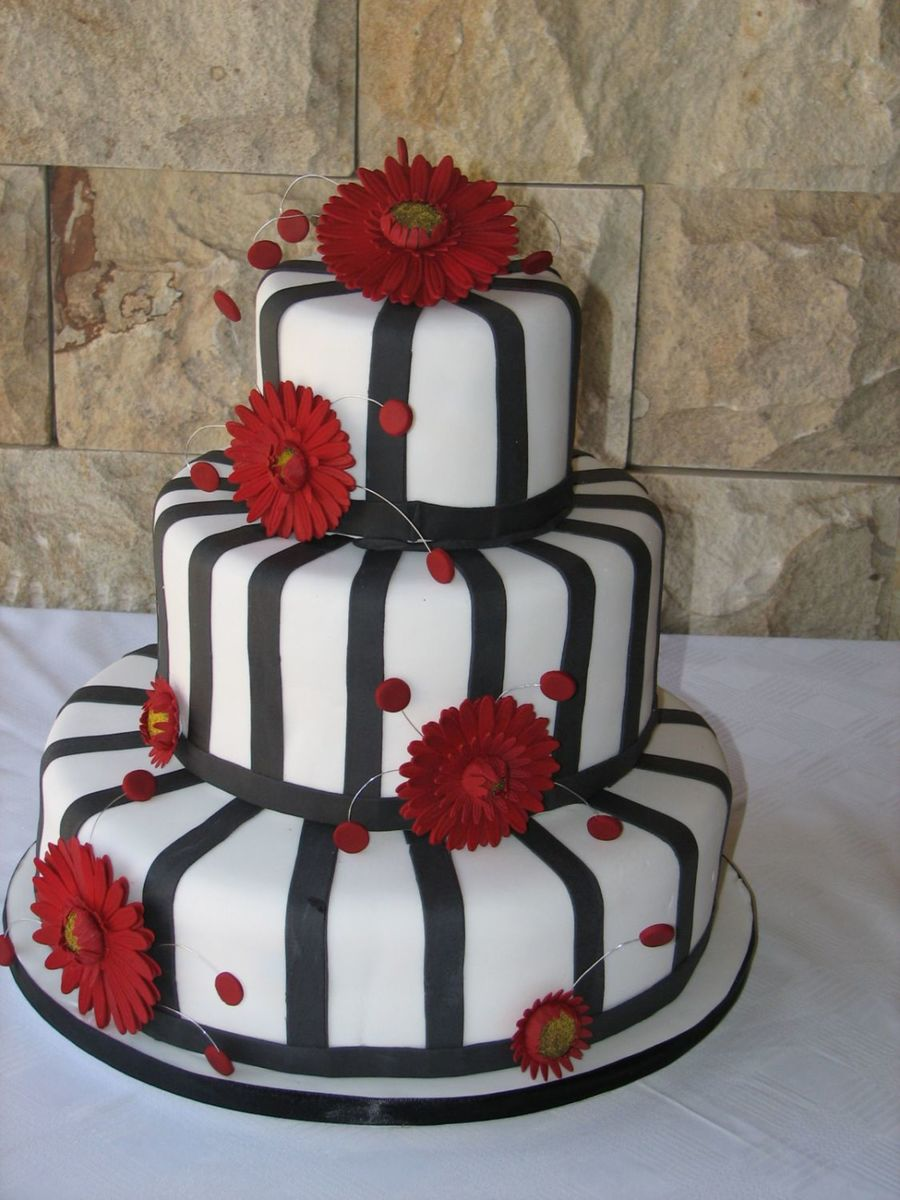 Red And Black on Cake Central