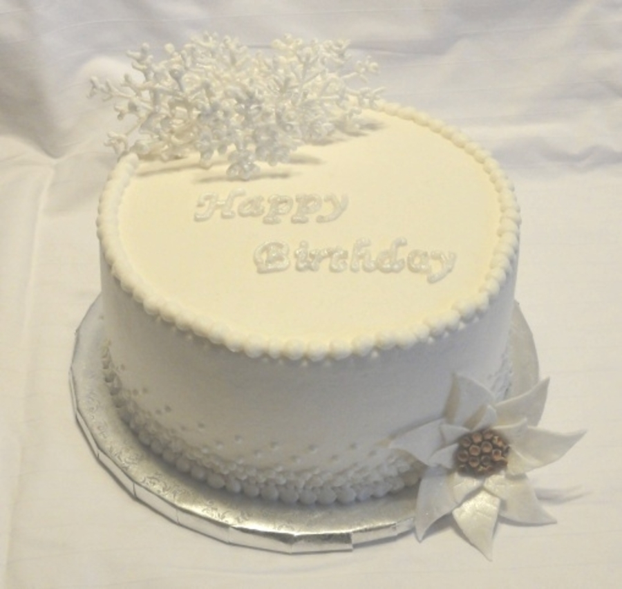 Winter White Birthday on Cake Central