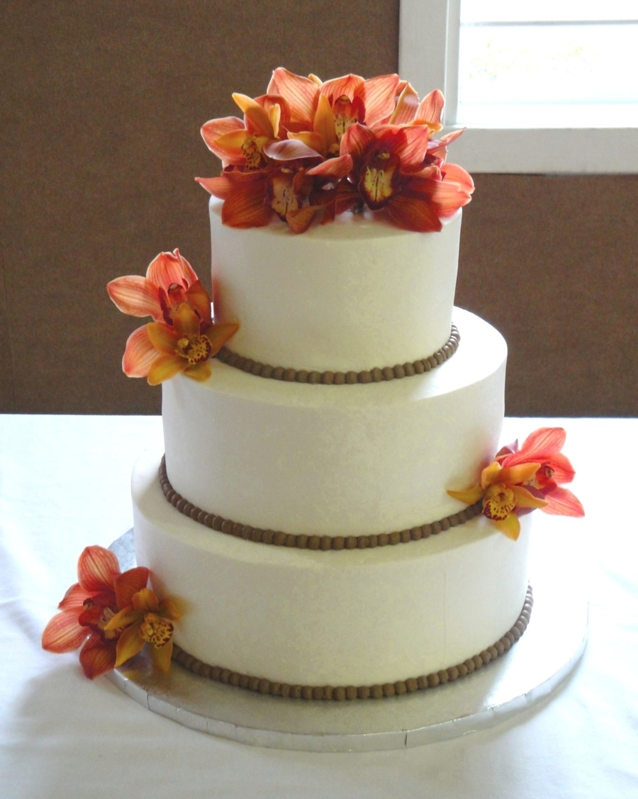 Fall Orchid Wedding on Cake Central