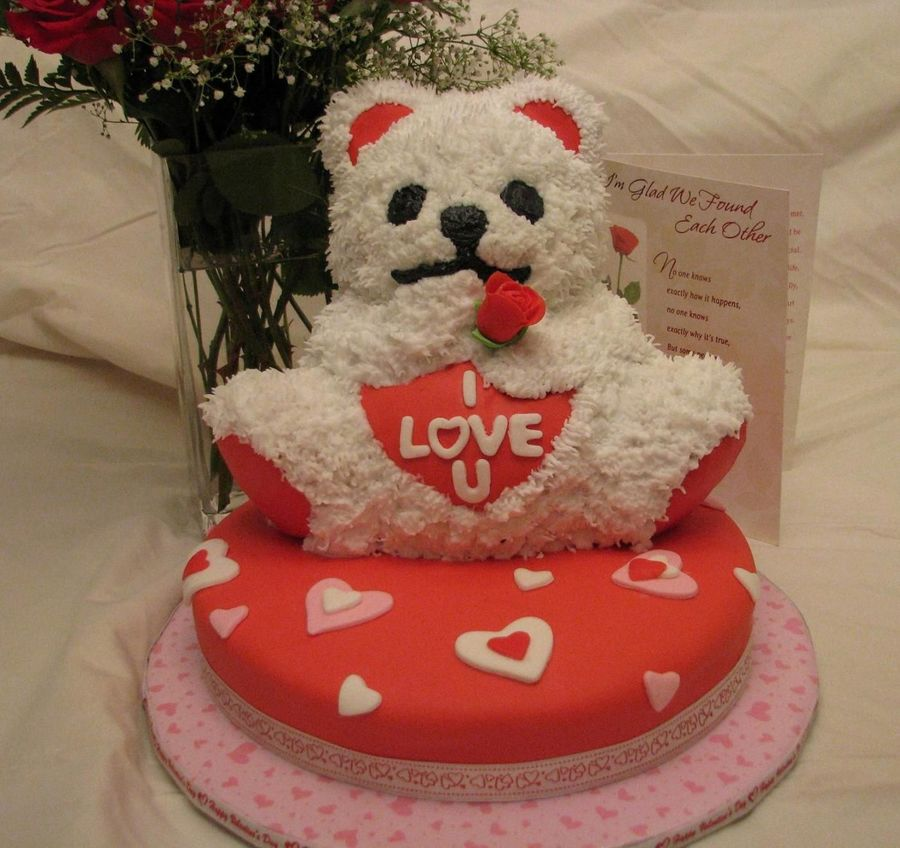 I Love You Bear on Cake Central