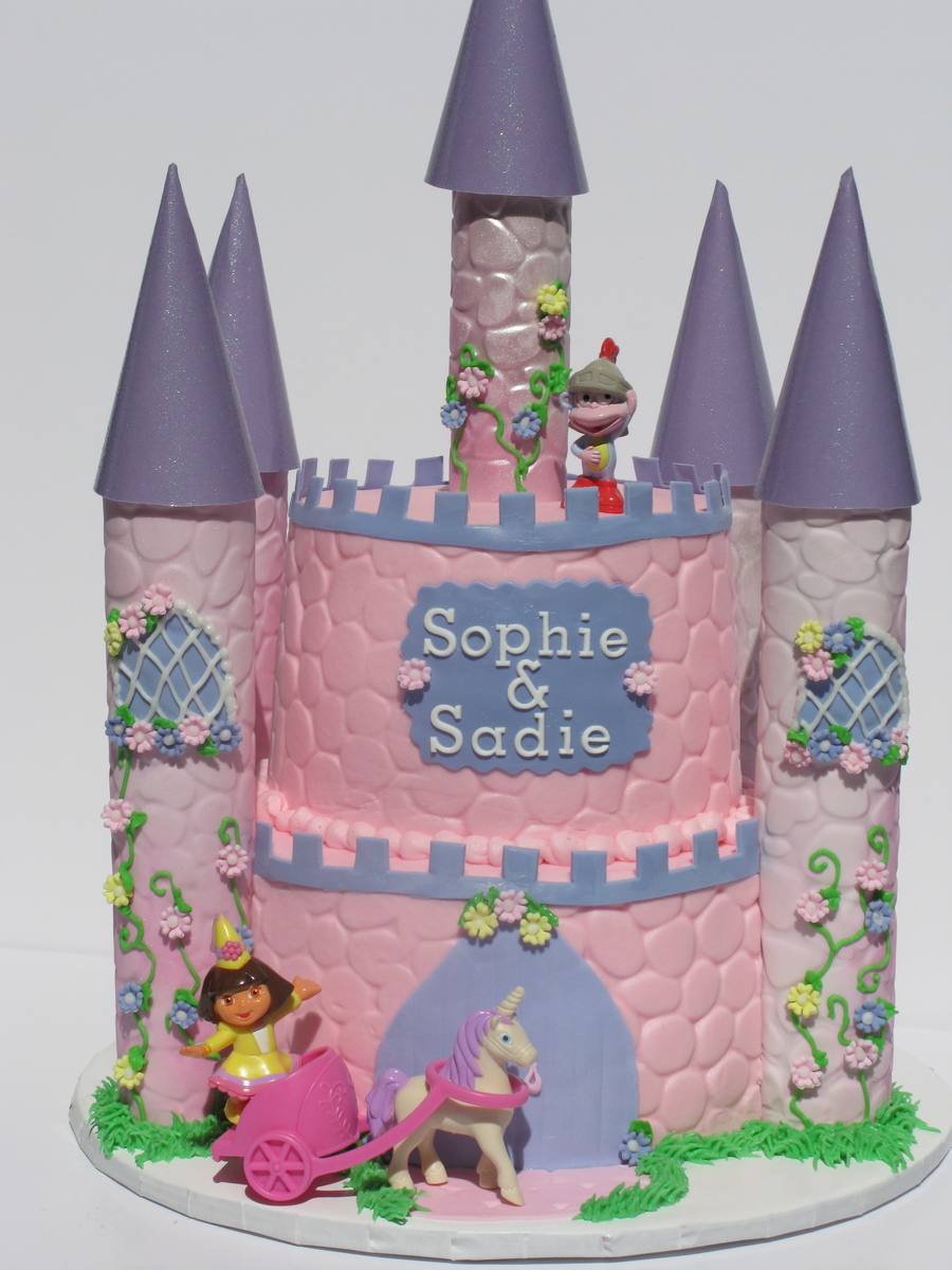 Princess Dora's Castle on Cake Central