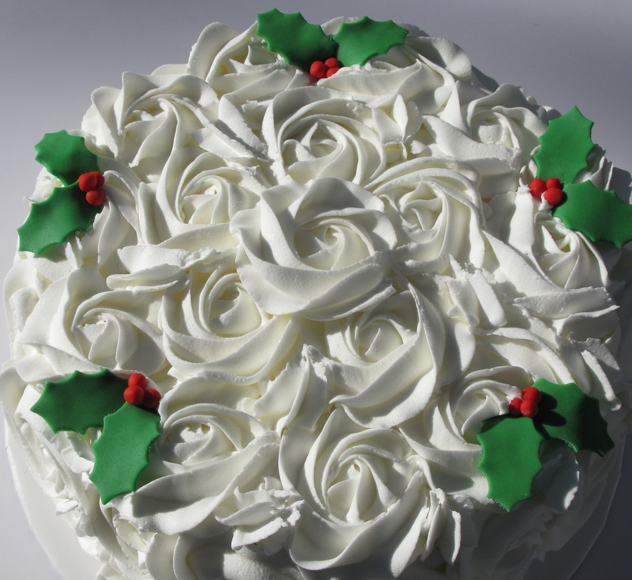 Winter Roses on Cake Central