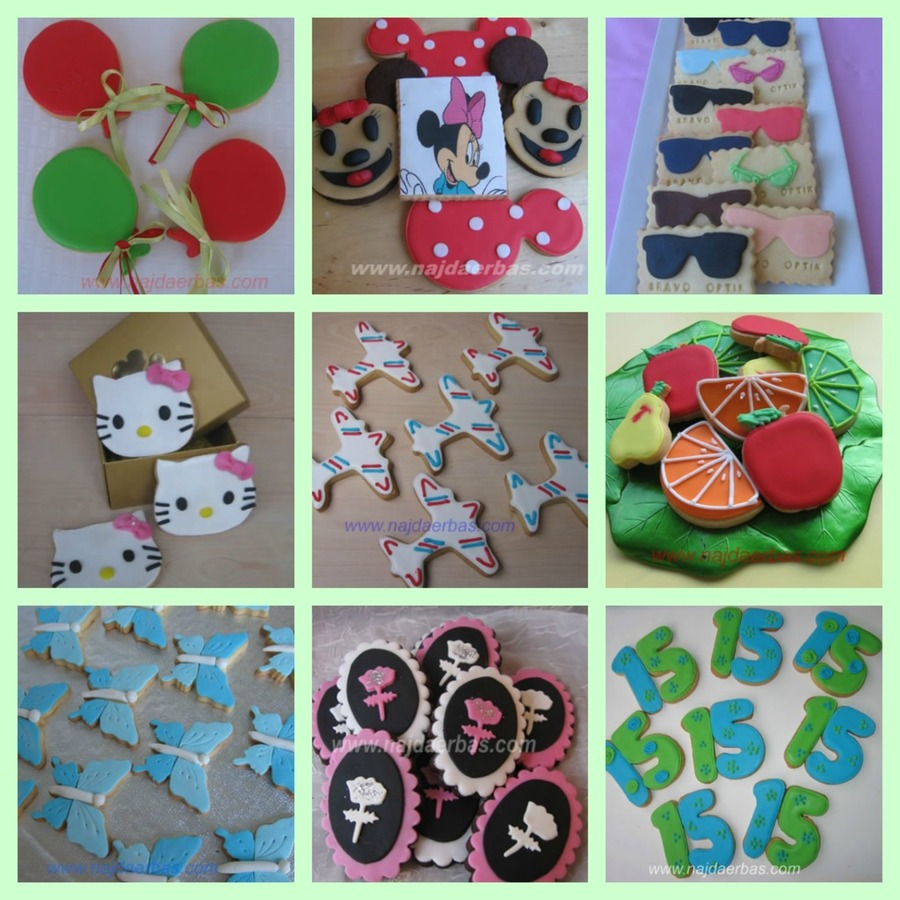 Cookie Collage on Cake Central