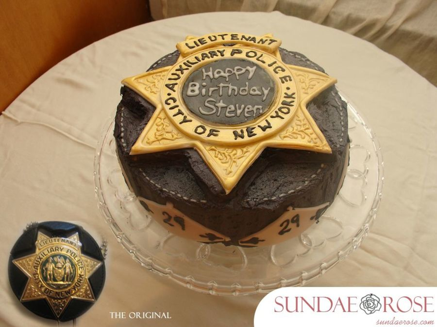 Police Badge Birthday Cake Cakecentral Com