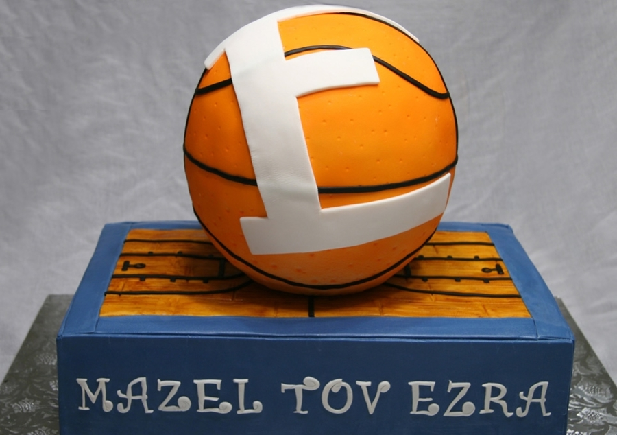 Basketball On Court on Cake Central