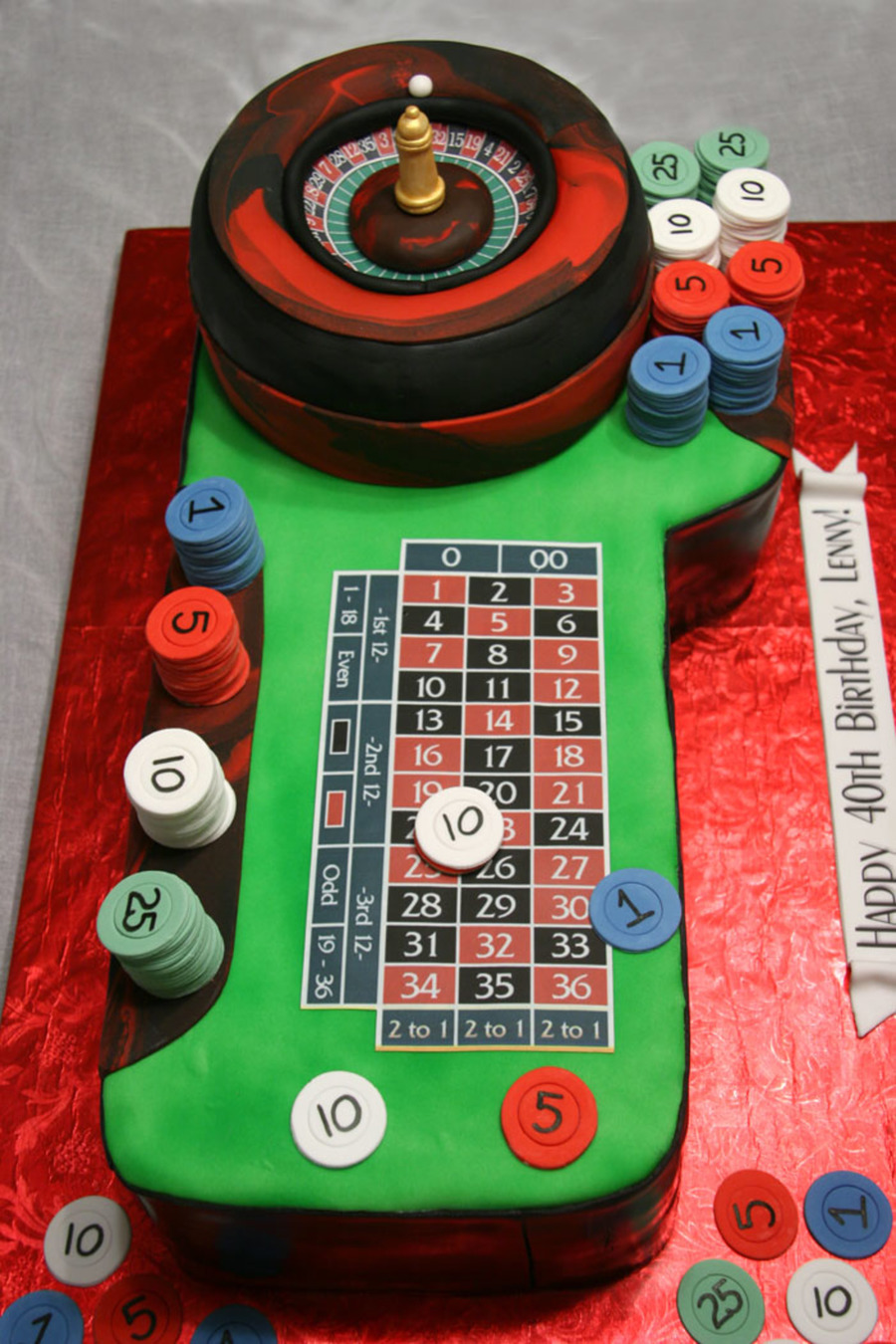 Roulette Table on Cake Central