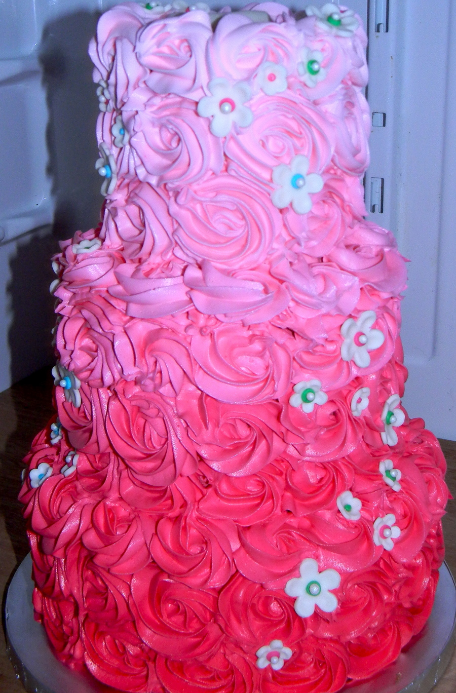 Ombre Rose Birthday Cake Cakecentral