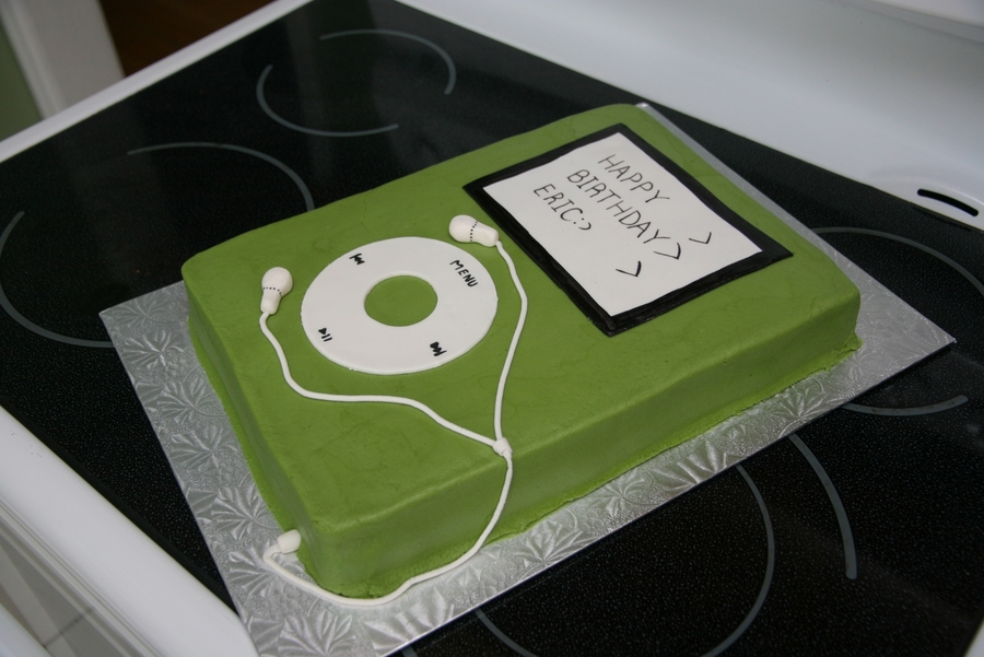 was asked to make an ipod cake for a 12 year old boy this is