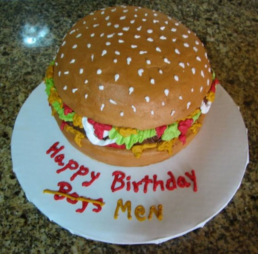 Hamburger Birthday Cake CakeCentralcom