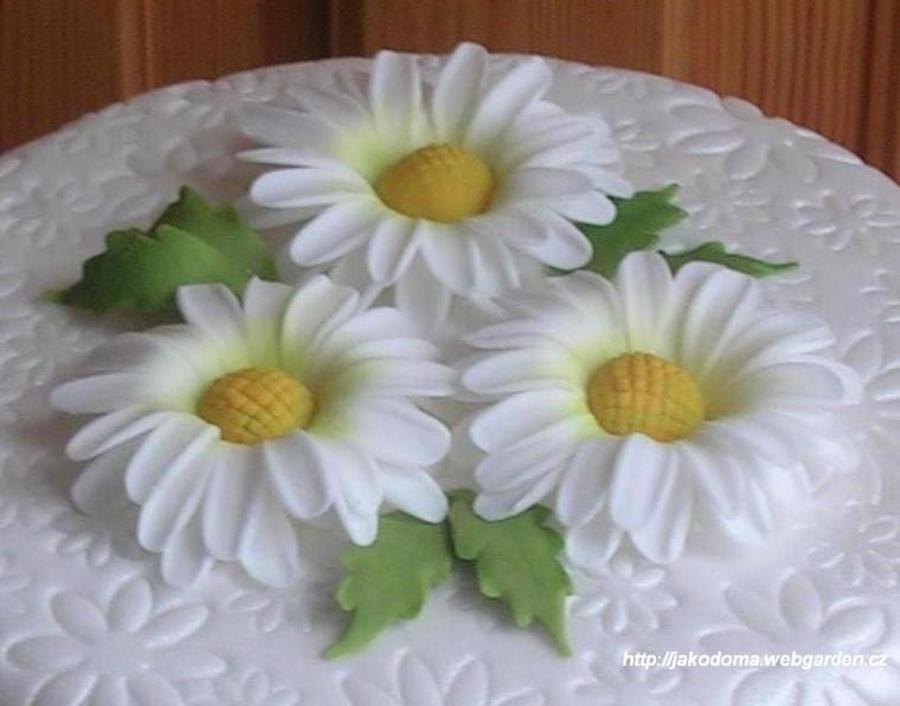 Cake Decorating How To Make Daisies : Fondant Daisies - CakeCentral.com