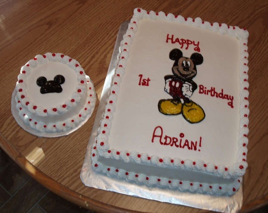 Mickey Mouse 1St Birthday on Cake Central