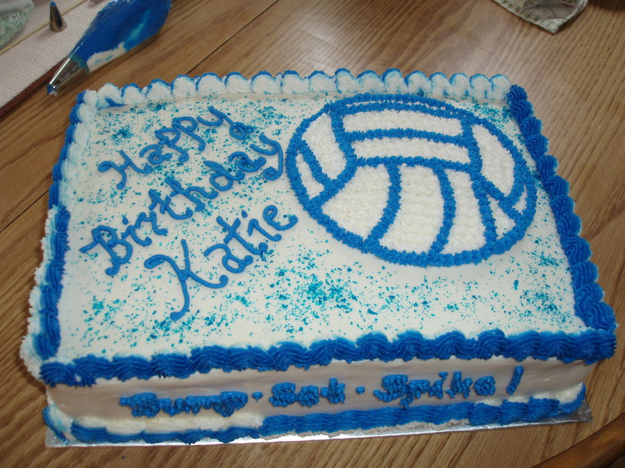 Fine Volleyball Birthday Cake Cakecentral Com Personalised Birthday Cards Beptaeletsinfo