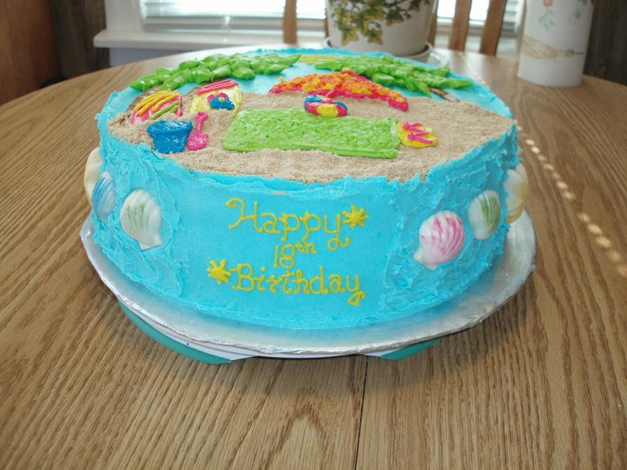 Beach Birthdaygraduation Cake Cakecentral