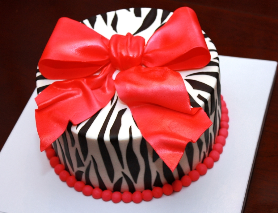 Zebra Stripes on Cake Central