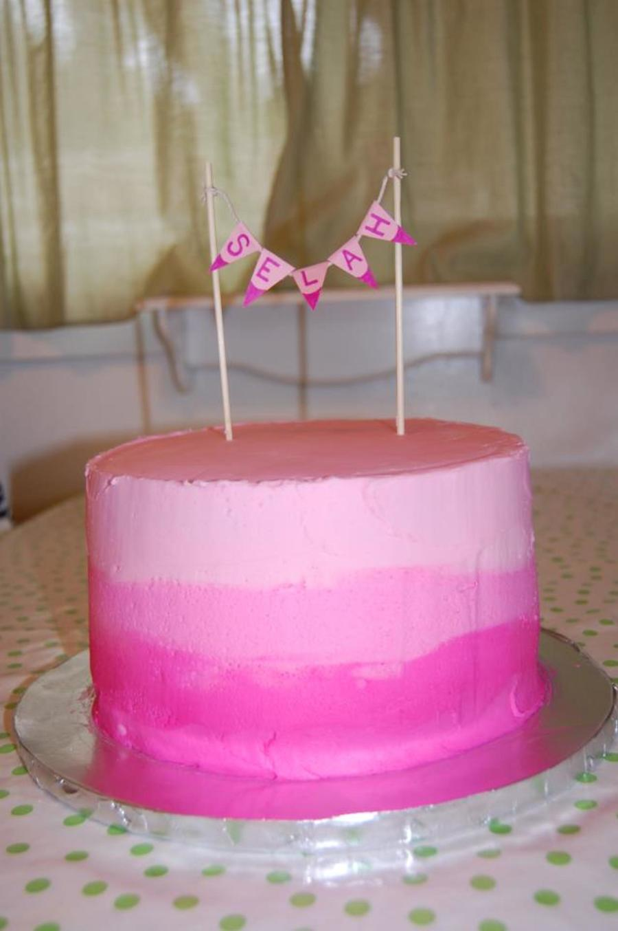 Pink Ombré Baby Shower Cake on Cake Central