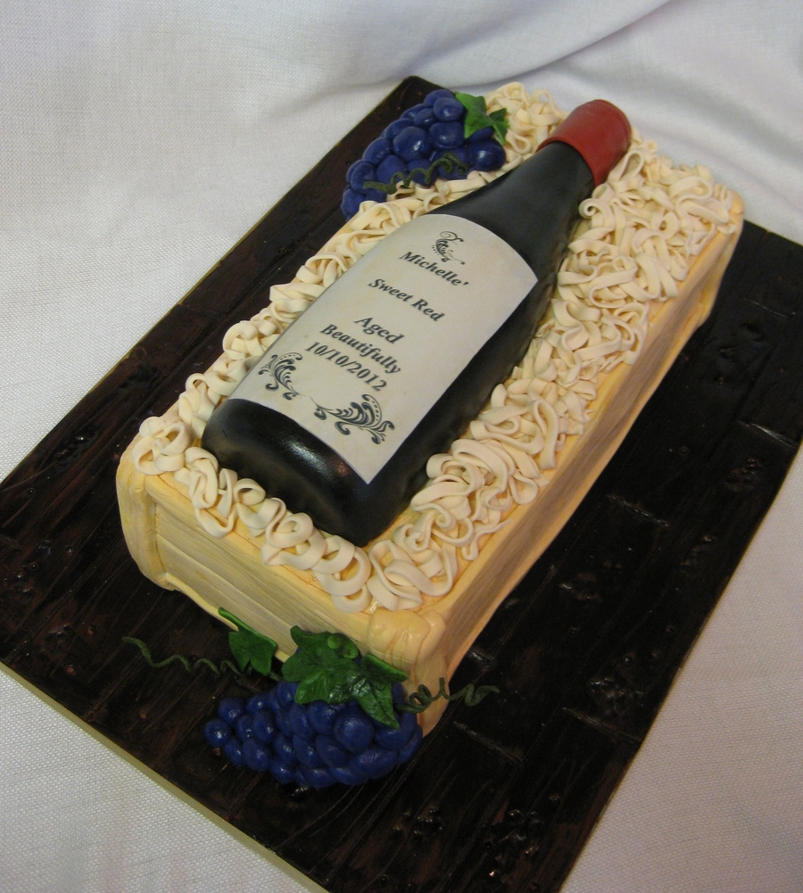 Wine Birthday Cake on Cake Central