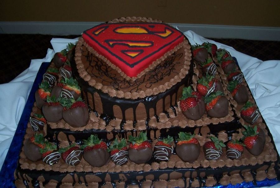 Groom's Cake Super Man on Cake Central