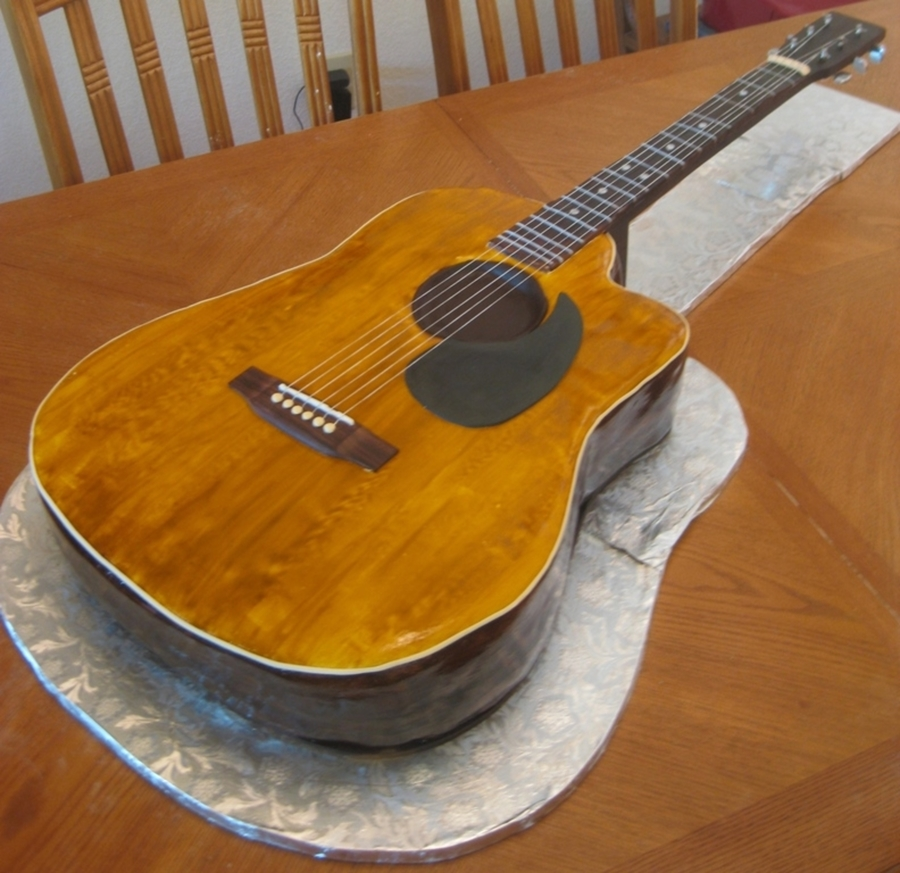 Acoustic Guitar on Cake Central