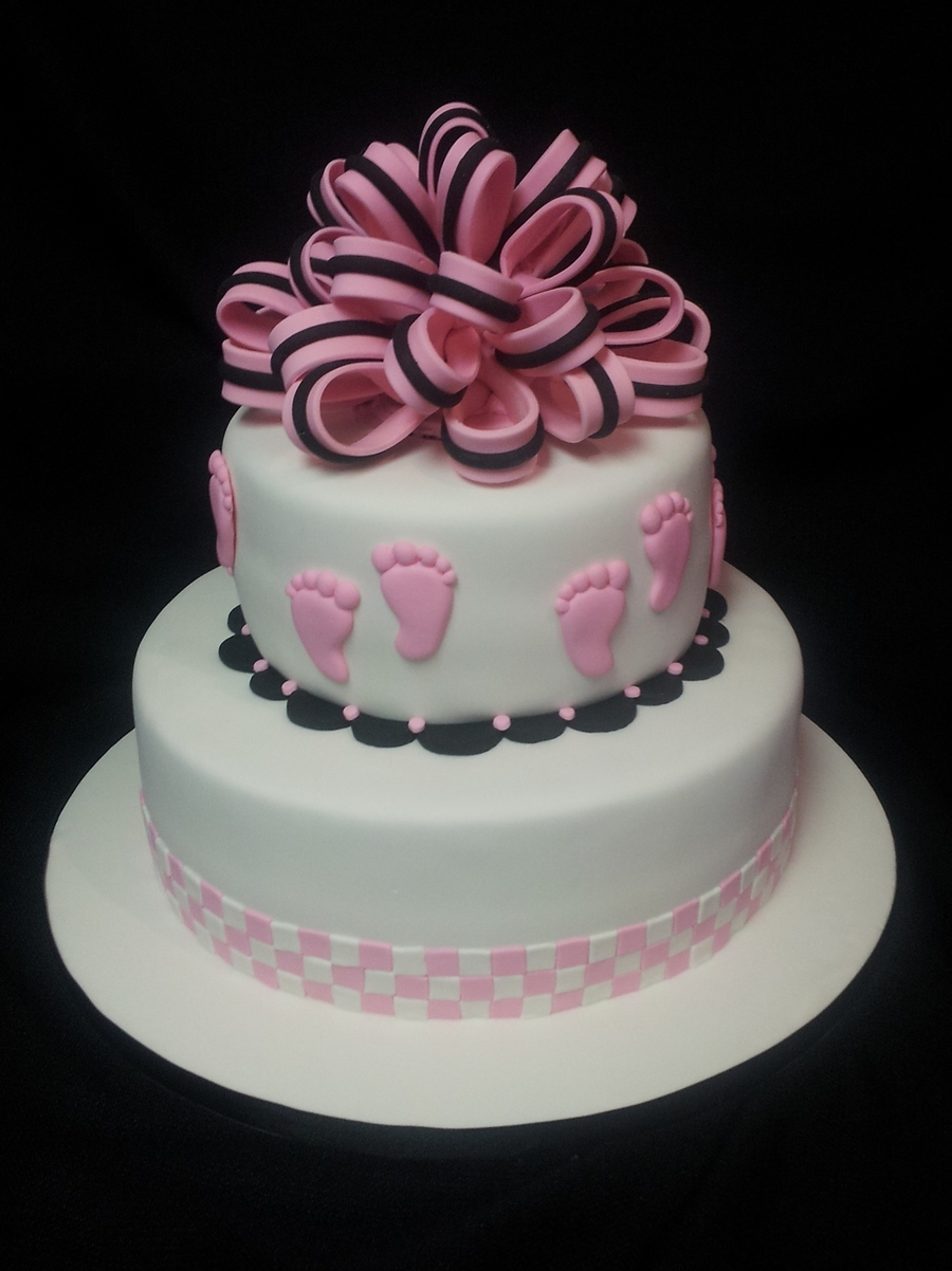 Baby Feet Baby Shower Cake on Cake Central